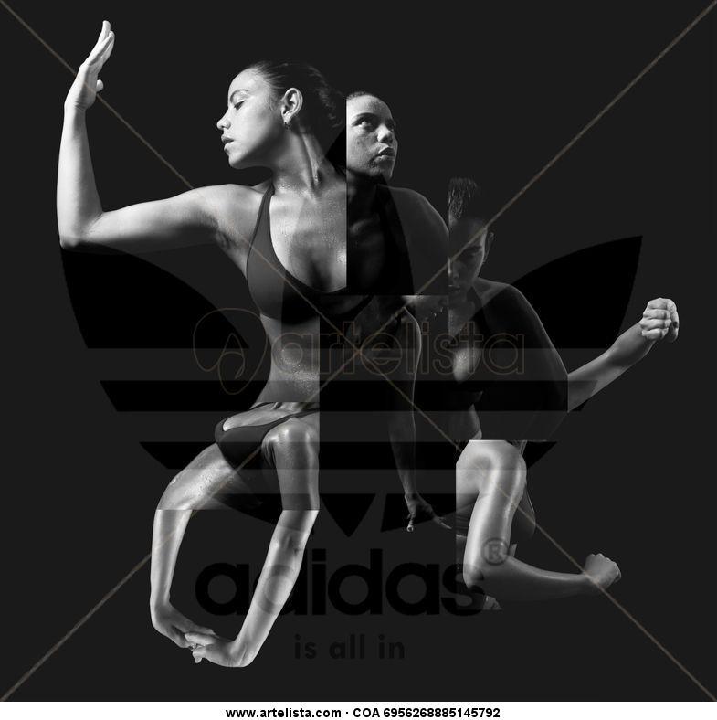 buy popular 6e668 bd28f ADIDAS Blanco y Negro (Digital) Publicidad y moda
