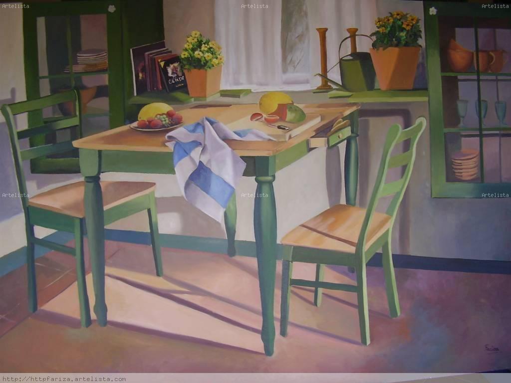 Mesa de cocina amaya fernandez fariza - Mesas antiguas de cocina ...