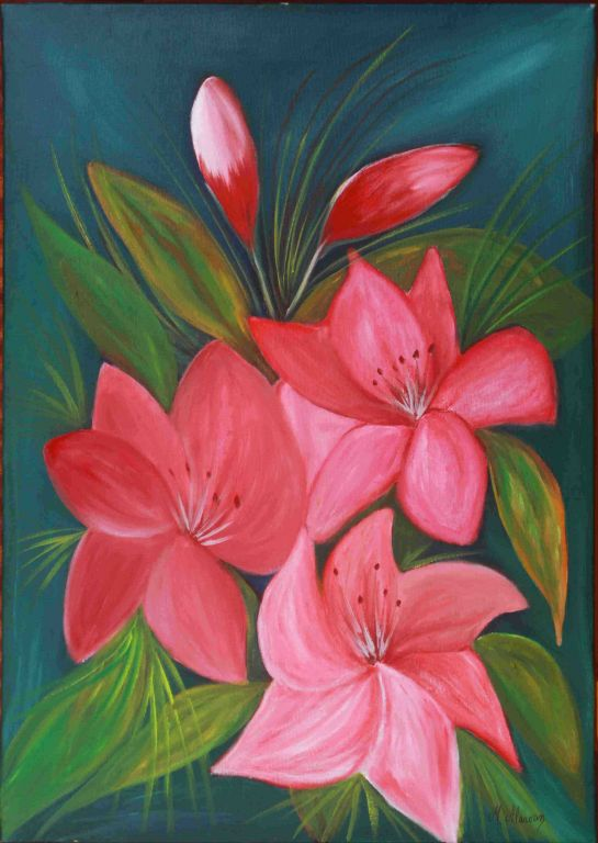 Flores Rosas Maria Alarcon Artelistacom