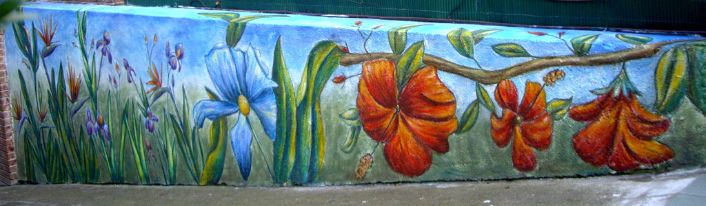 Mural Flores Del Paraiso Amarilis Mapi Martin Rodriguez Artelistacom
