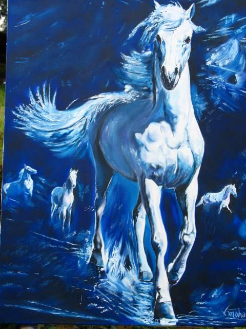 caballos blancos cesar buitrago diaz - Artelista.com