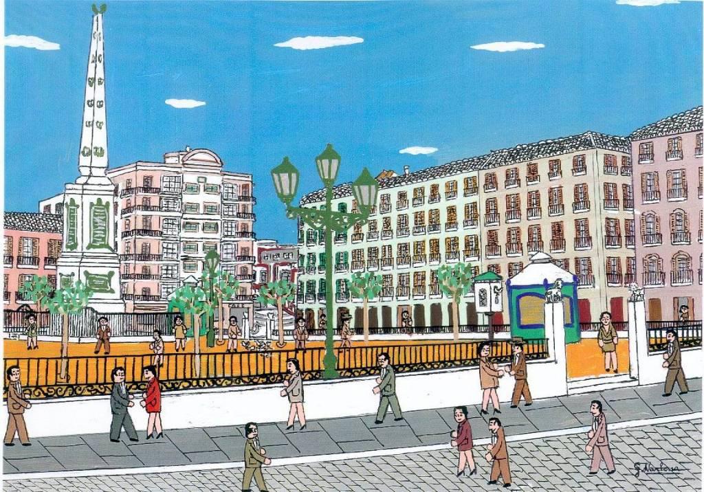 Malaga Plaza De La Merced Guillermo Narbona Marquez Artelista Com
