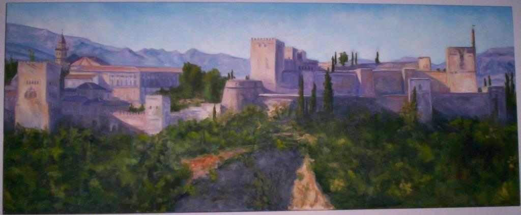 La alhambra de granada jose lopez - Pinturas arenas granada ...