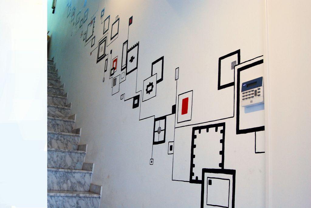 Motivo Geometrico Para Unas Escaleras Javi Valiente Martin - Cuadros-para-escaleras
