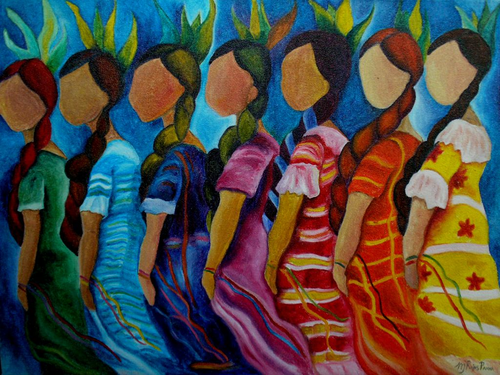 Reproducci n mexicanas mar a jos rojas parra for Pinterest obras de arte