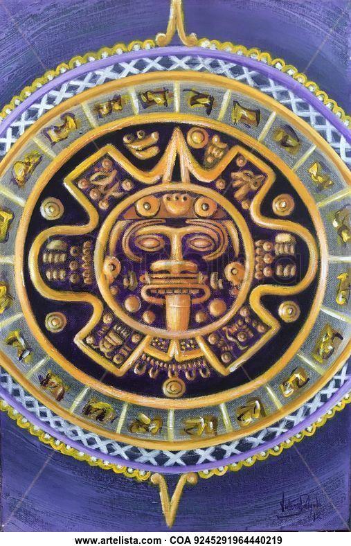 Calendario Azteca.Calendario Azteca Victoria Delgado Artelista Com