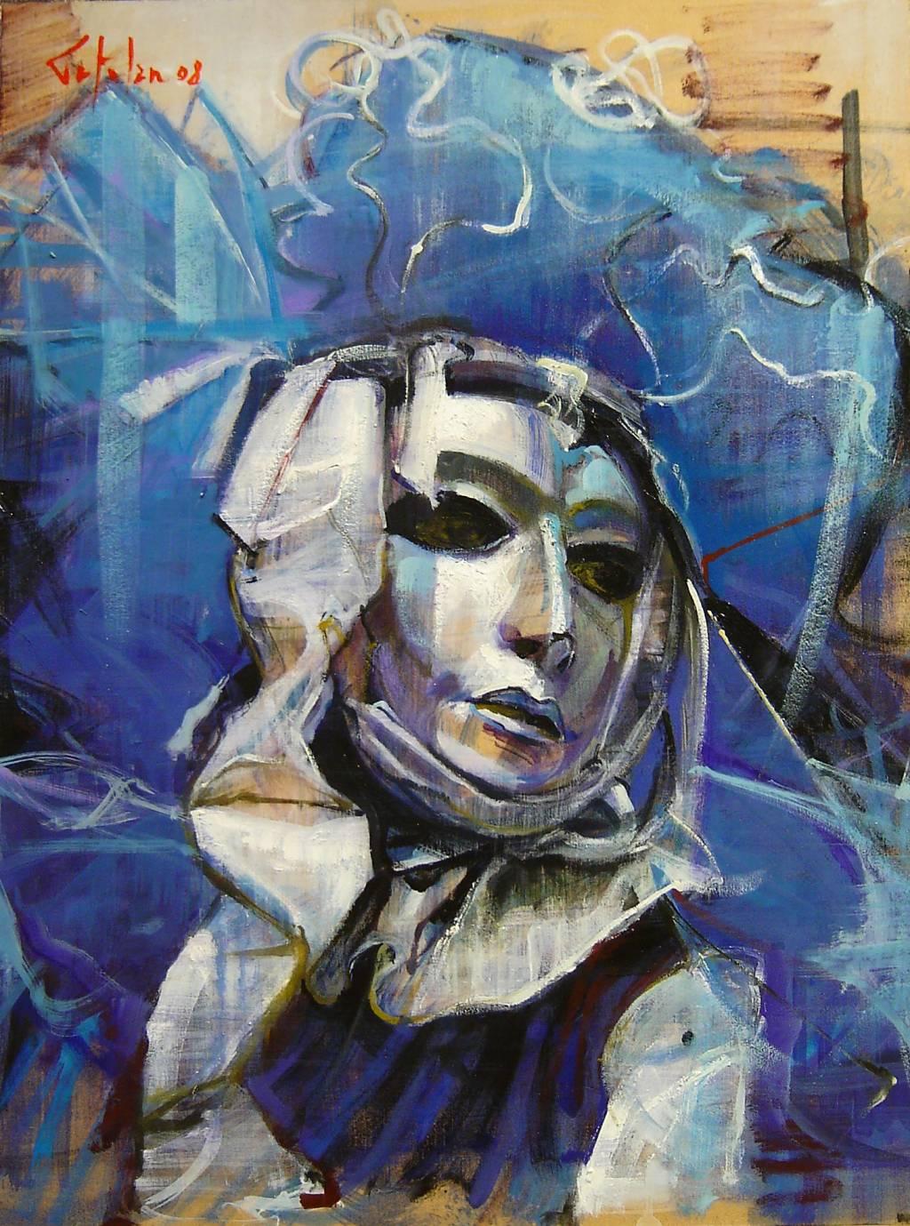La mascara veneciana serie marco ortolan for Marcos para pinturas