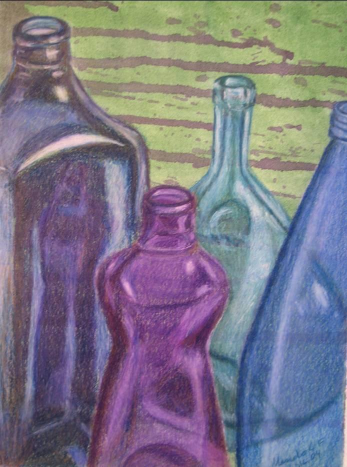 Botellas manolo l pez fuentes - Botelleros de obra ...