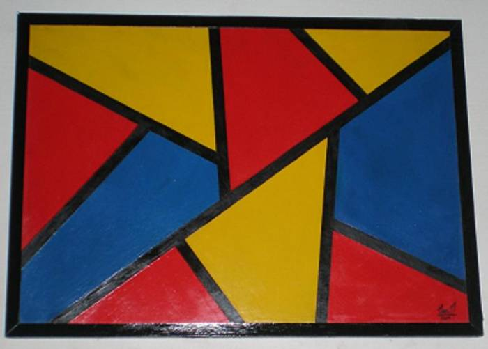 Arte expresi n del alma colores primarios - Cuadros con colores calidos ...