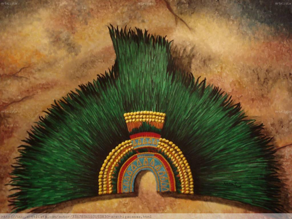 Penacho de Moctezuma Pablo Arechiga Casas - Artelista.com
