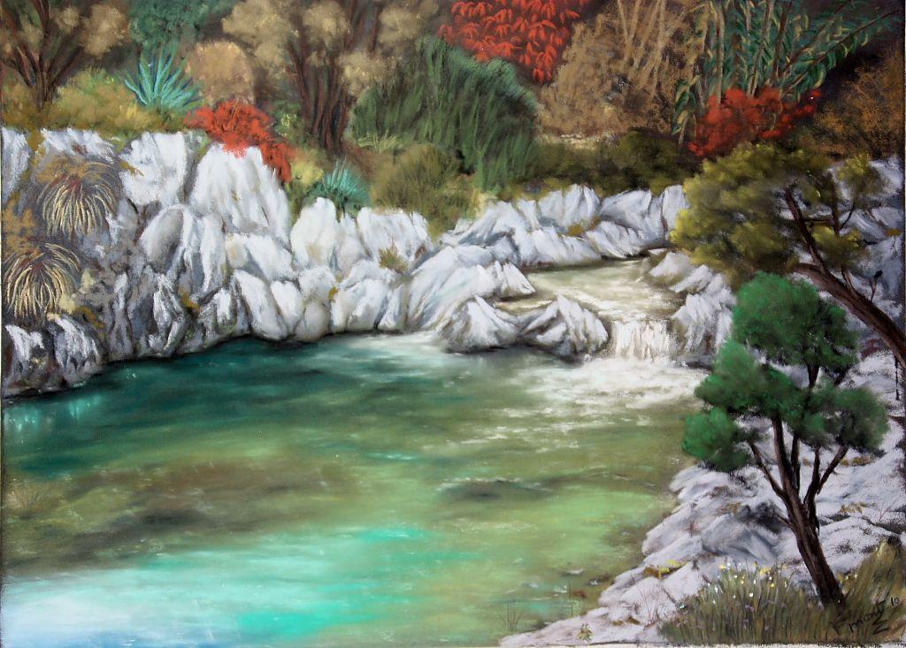 Estanque francisco montoya for Pintura para estanques