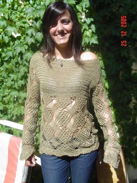 sweater calado Ropa Alfarería y Cerámica