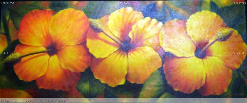 Flores al oleo cuadros - Imagui