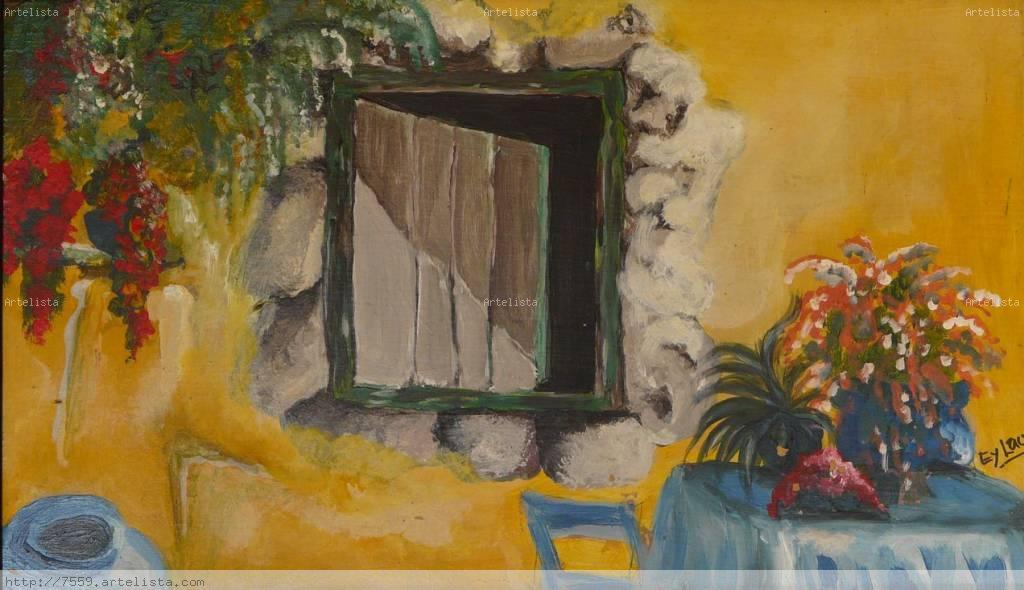 Ventana antigua laura eyheramonho for Pintura de tiza para puertas
