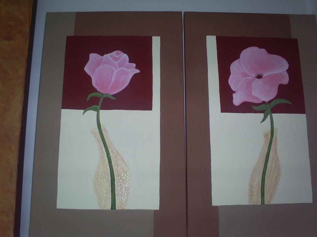 Cuadros flores pareja helyos torralba aguado artelista - Cuadros de parejas ...
