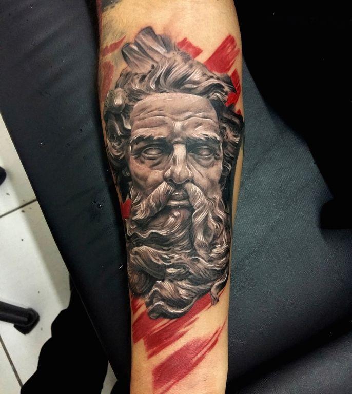 Poseidon Tattoo Tattoo Manaus Alainhead Tattoo Manaus