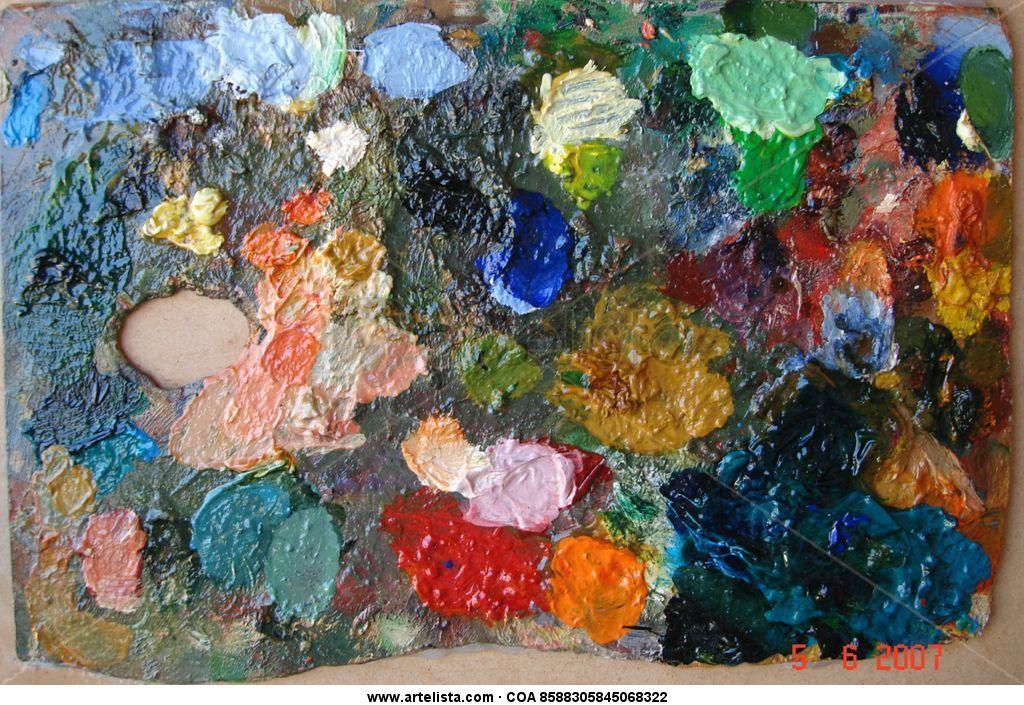 Paleta oleo oleos cuadros pintura paletas vintage retor - Paleta de pinturas ...
