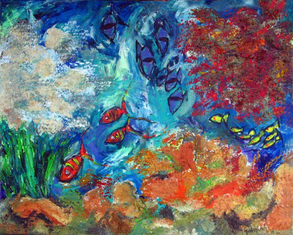Corales y peces 1 pablo goldenberg for Cuadros con peces