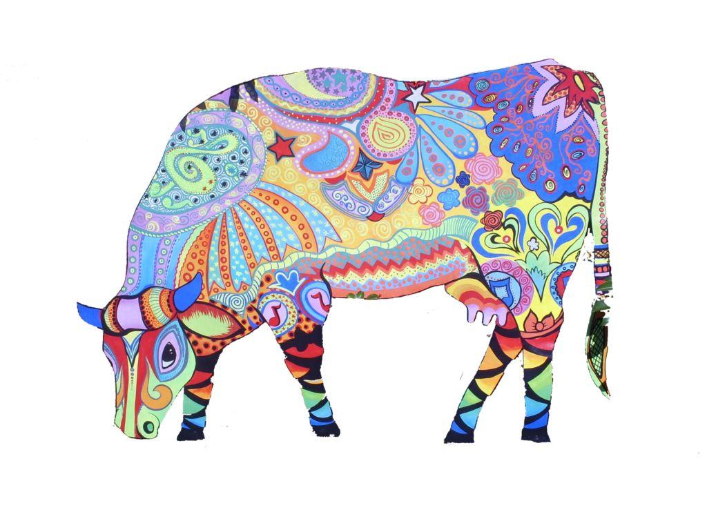 Vaca customizada leila s peixoto - Cuadros de vacas ...