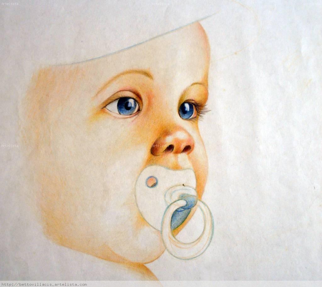 Dibujos de beb a lapiz imagui - Dibujos pared bebe ...