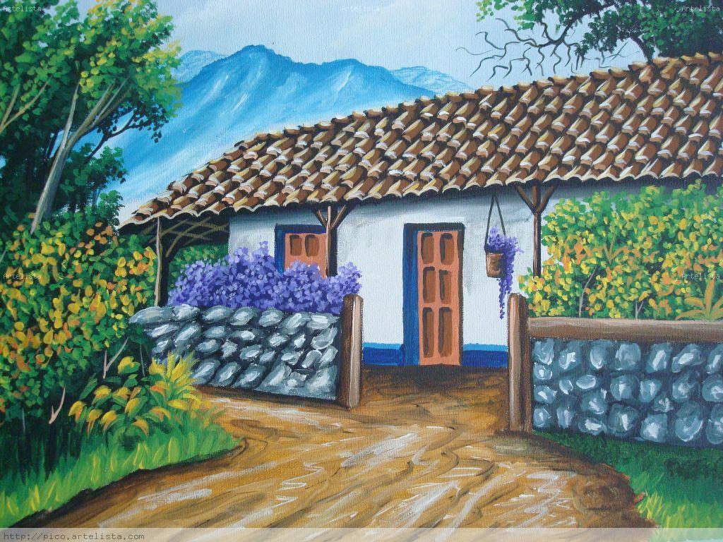 Casas viejas de costa rica pintura de pico edgar pico - Casas viejas al oleo ...