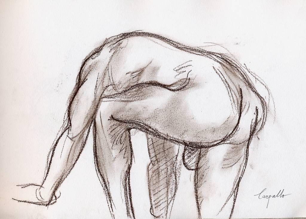Figura humana inclinada Joseba Gonzalez Carpallo  Artelistacom