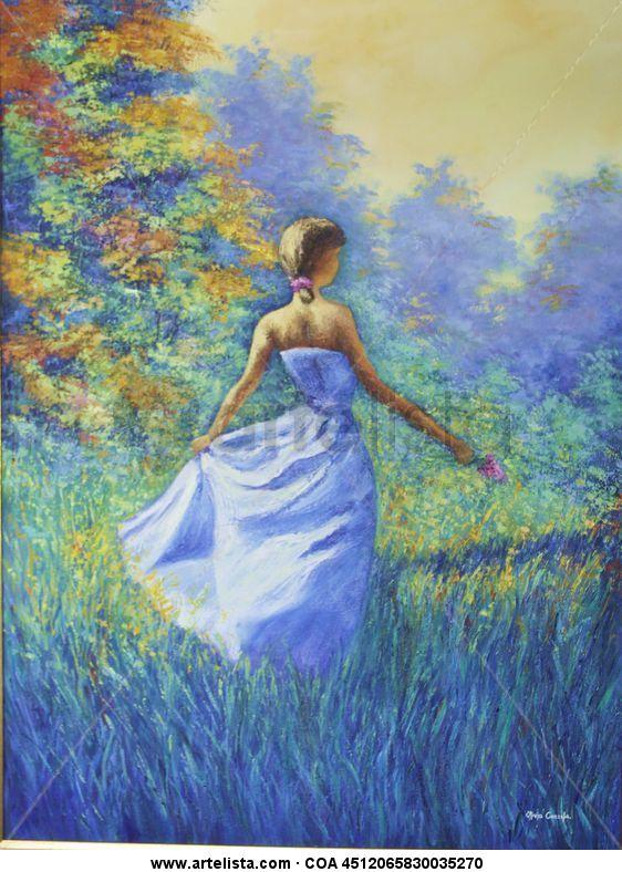 c2a0f84fd Mujer en el Jardín del Edén Olivia Cazzola - Artelista.com