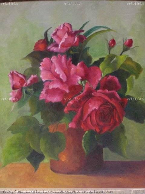 rosas rojas Maria Gloria Quiles Pardo - Artelista.com