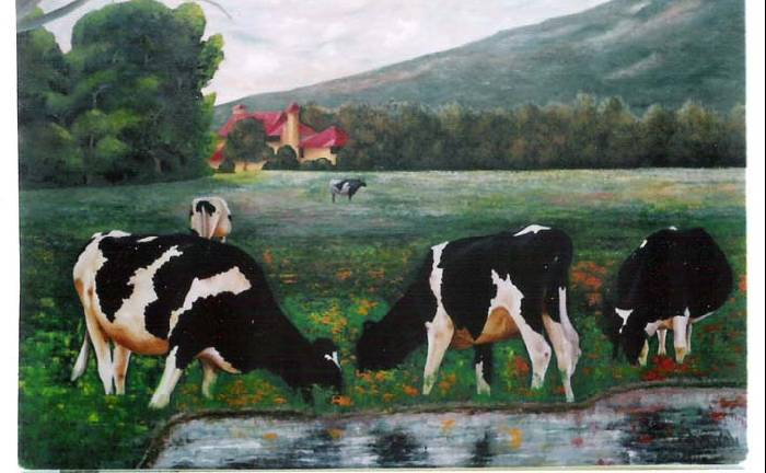 Paisaje de sabana camilo waxxman - Cuadros de vacas ...