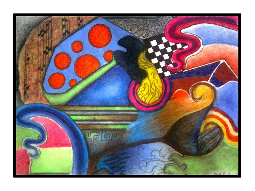 Obras de arte abstracto cuadros for Pinterest obras de arte