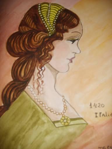 Serie de moda antigua italia maria eugenia correcher gisbert - Pinturas de moda ...