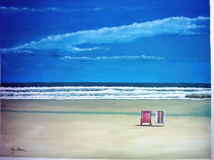Hamacas en la playa jos mar a g mez vera - Hamacas de playa ...