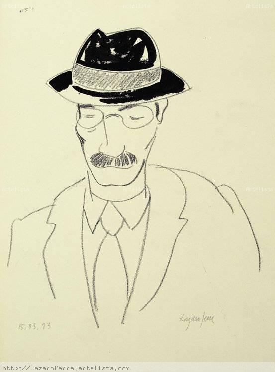 Hombre con sombrero Jose Luis Lazaro Ferre - Artelista.com 88981188eff