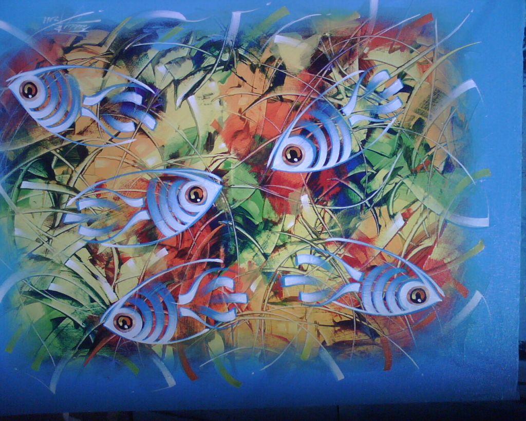 Peces delaserie2 alexander paniagua de la cruz for Cuadros con peces