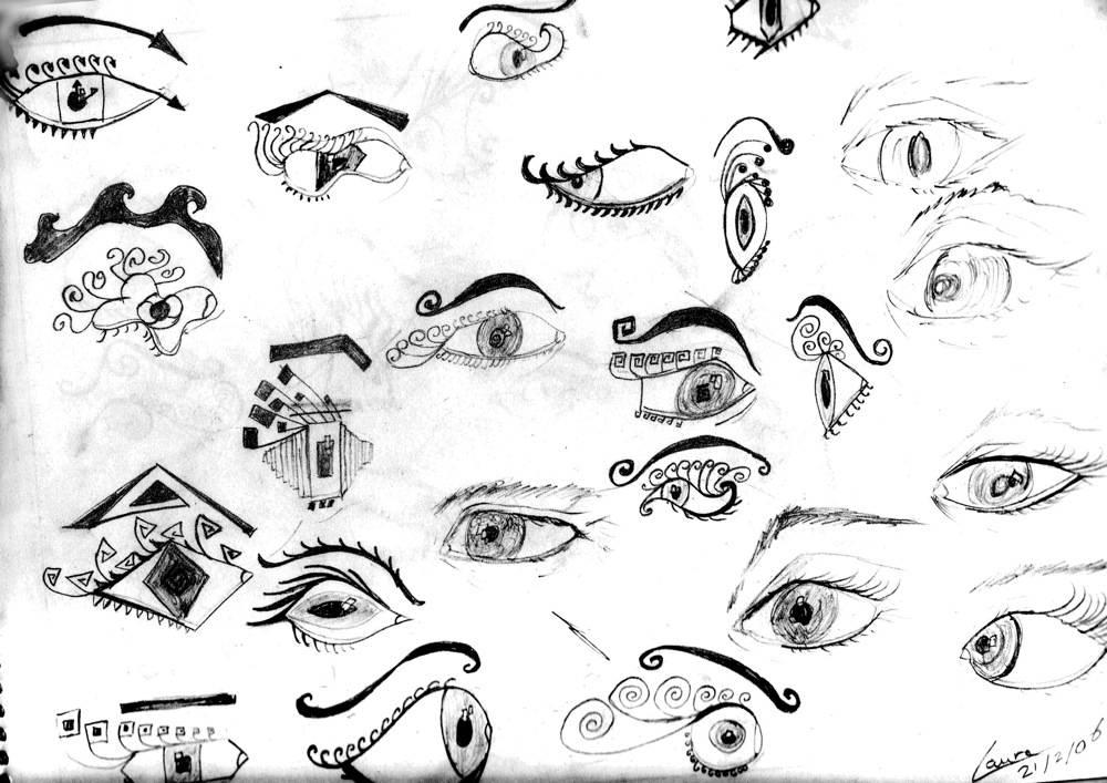 dibujos a lapiz de ojos