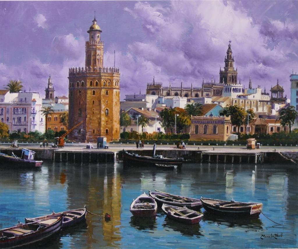 La torre del oro jose monz n abril for Todo pintura sevilla