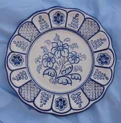 Plato de ceramica de talavera justo canales bartolome for Ceramica talavera madrid