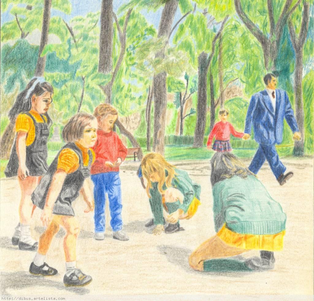 niños jugando Francisco Lopez de Pablo Fernandez- Artelista.com