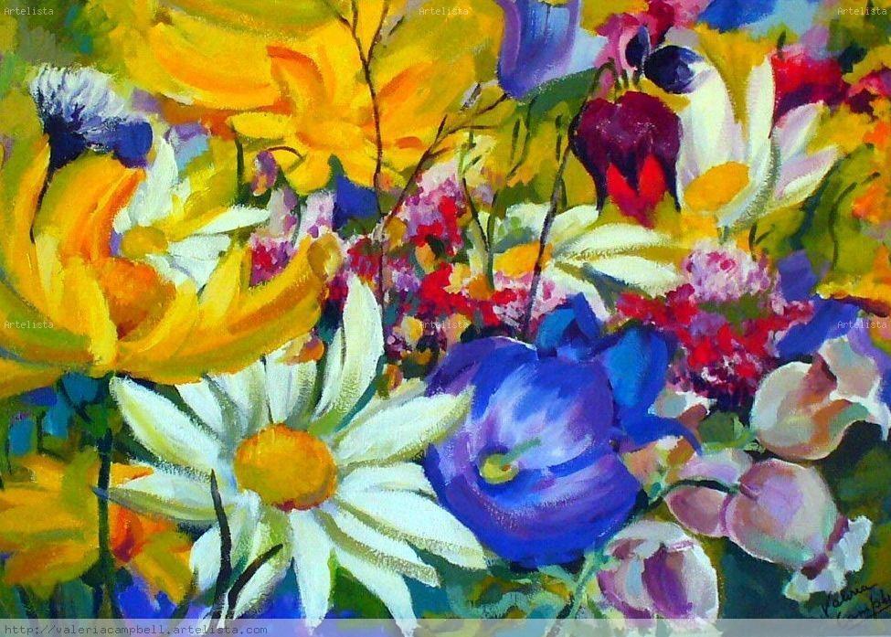 Bouquet de flores valeria campbell - Pintar con acrilicos paso a paso ...