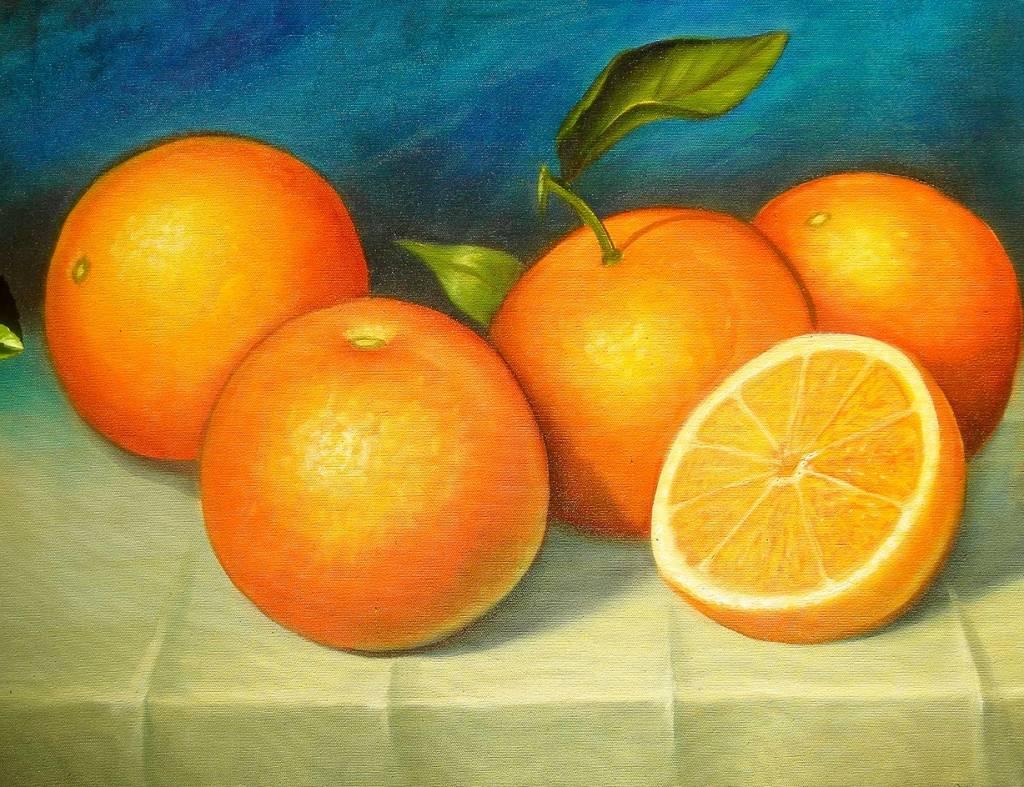 Naranjas paraguayas reina americana - Pintura naranja pared ...