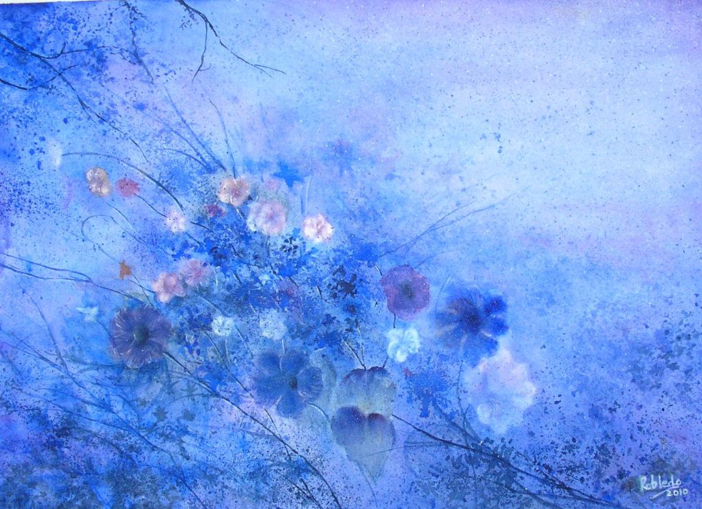 Flores Azules Tom 225 S Robledo Alfaro Artelista Com