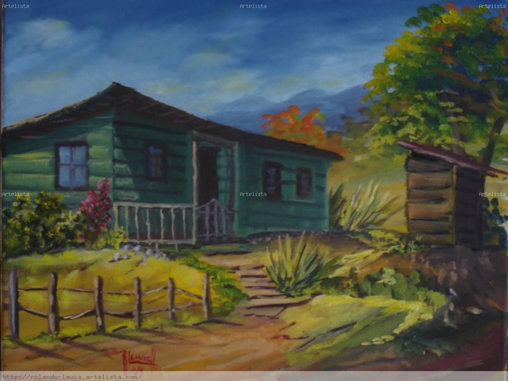 La casa verde de la finca rolando lewis for La casa de las pinturas