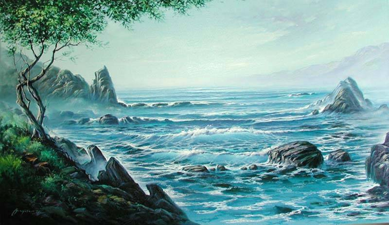 Cuadros de paisajes marinos - Imagui