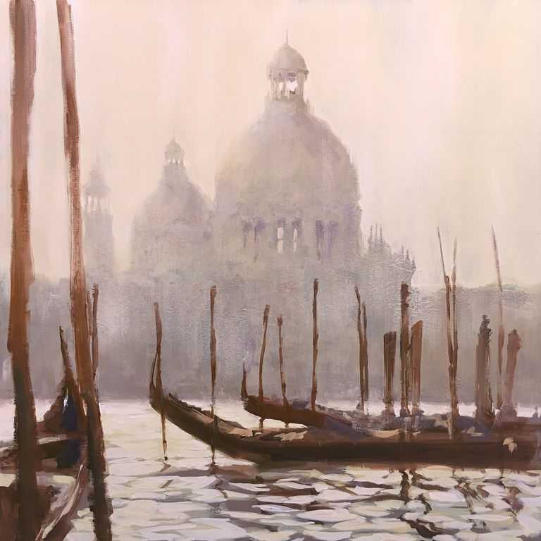 Venecia IV Canvas Oil Marine Painting