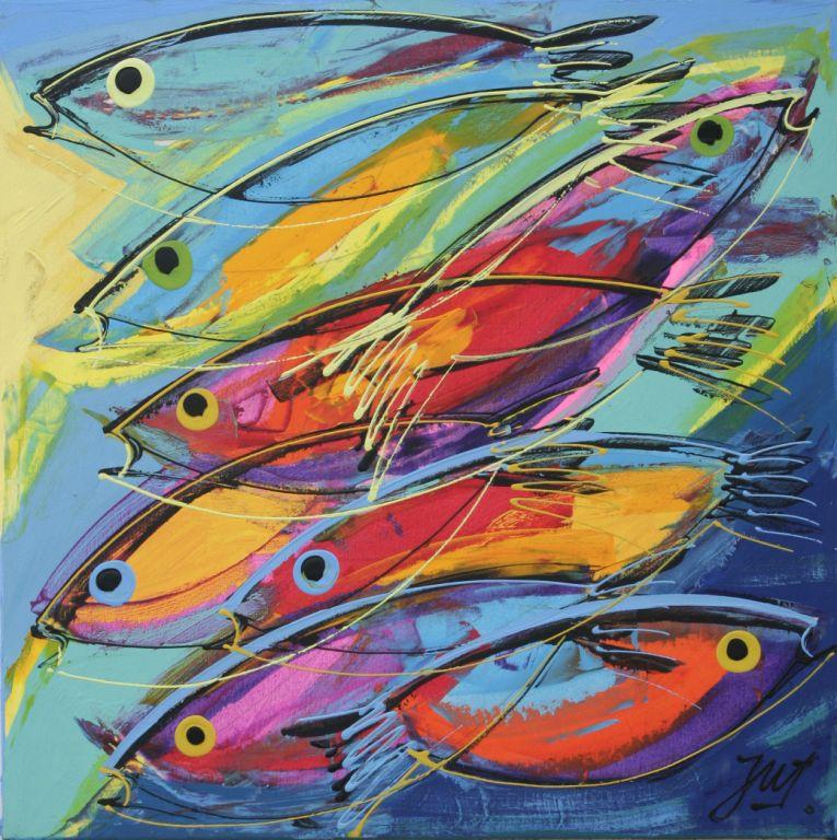 Cardumen peces julian juarez for Cuadros de peces