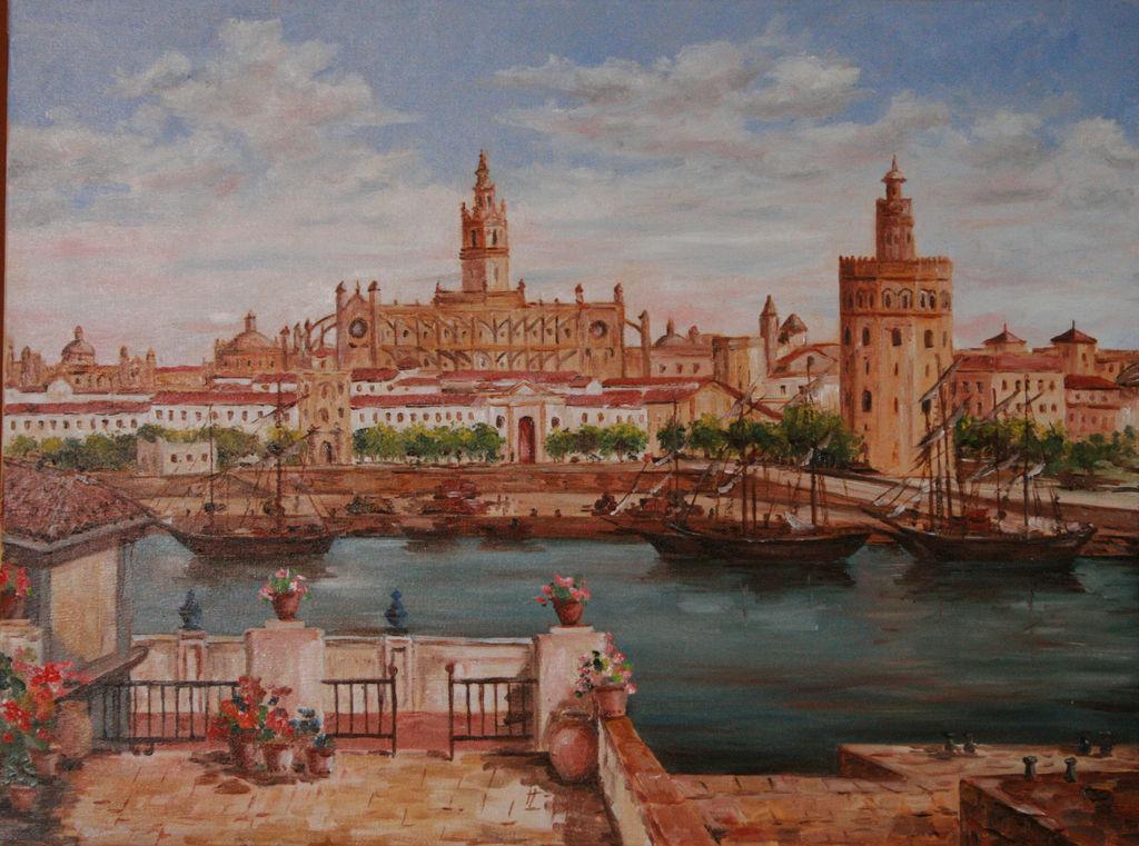 Sevilla torre del oro manuel masso ricoy for Todo pintura sevilla
