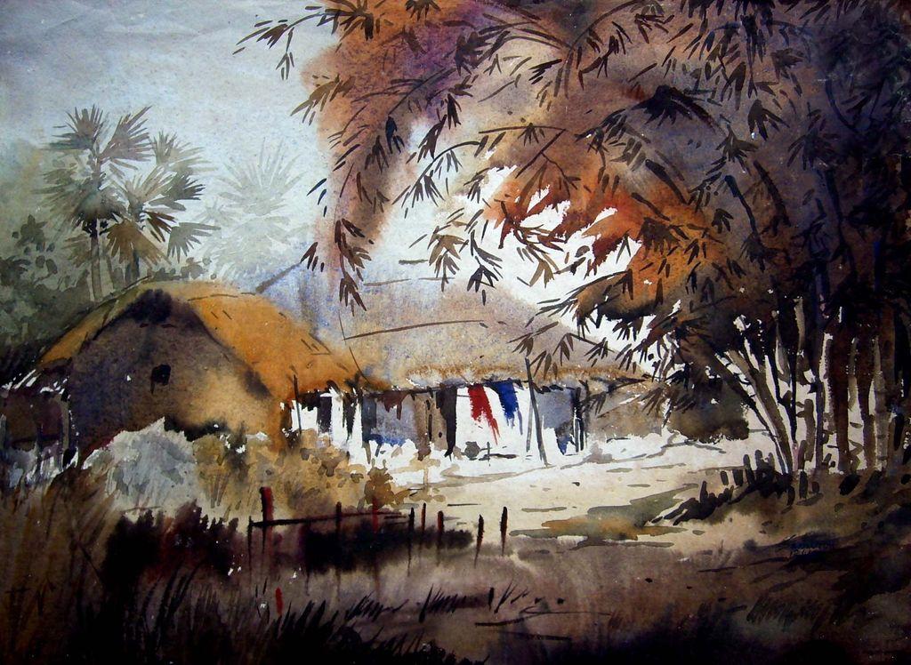 Beauty of Bengal Village by Samiran Sarkar