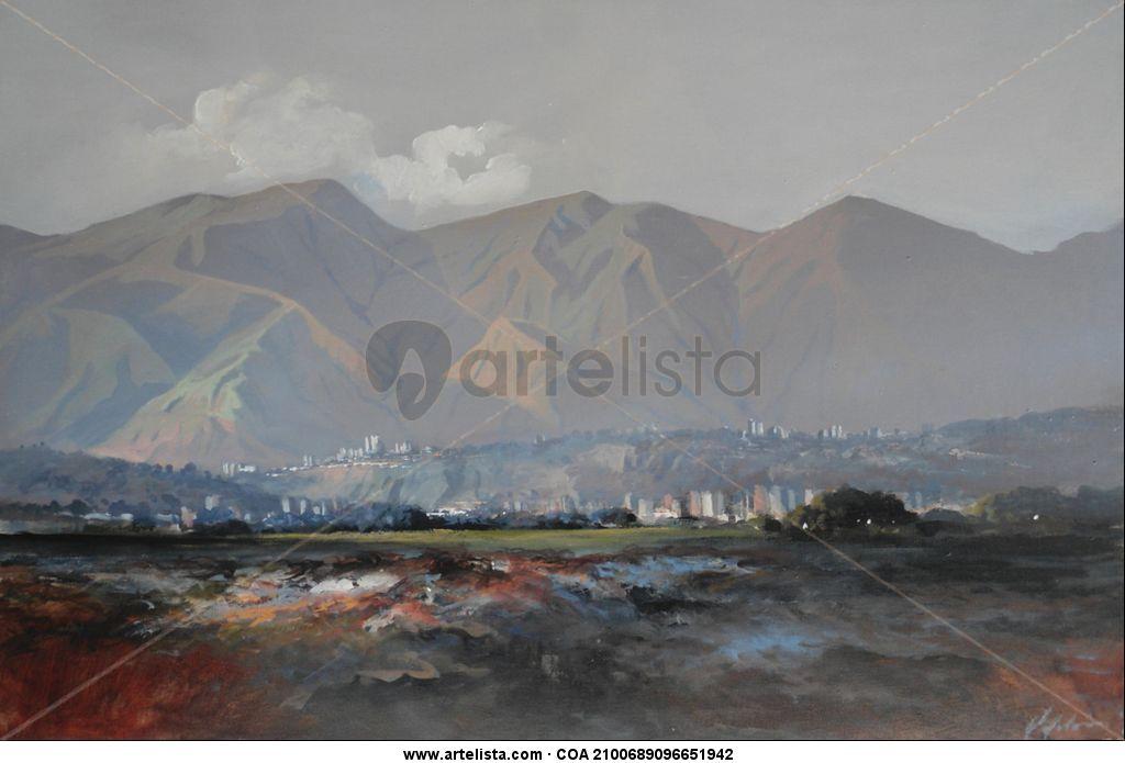 Armando Villalon- Avila Óleo Paisaje Lienzo