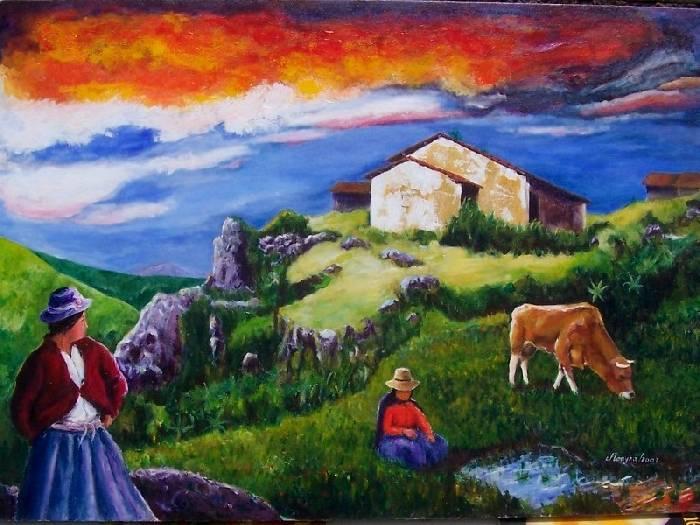 pintura ecuatoriana La pintura colonial es de tipo religioso, realizada por maestros anónimos  convertidos en caciques de los indígenas de la región ecuatoriana de esmeraldas,.