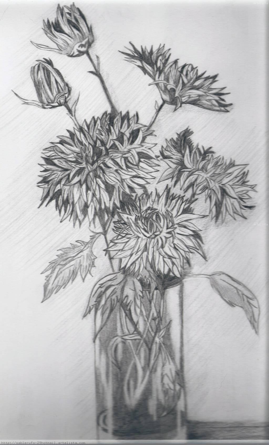 Imagenes Dibujos De Rosas A Lapiz